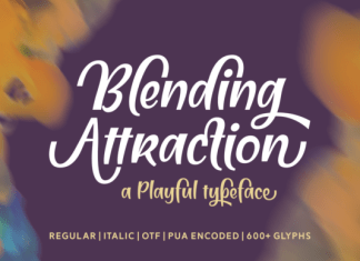 Blending Attraction Font