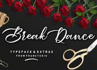 Break Dance Script Font