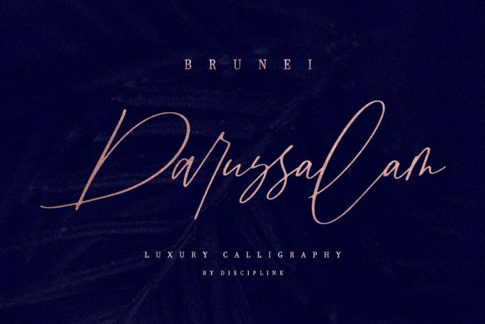 Brunei Darussalam Script Font