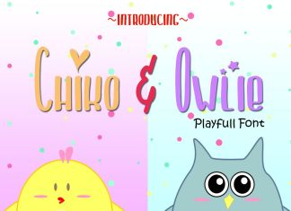 Chiko & Owlie - Extra Cute GraphicRegular Font