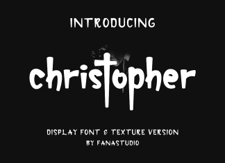 christopher-display font and texture versionRegular Font