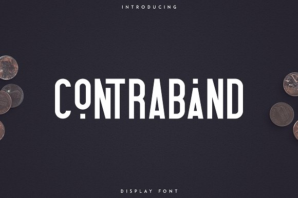 Contraband - Display font