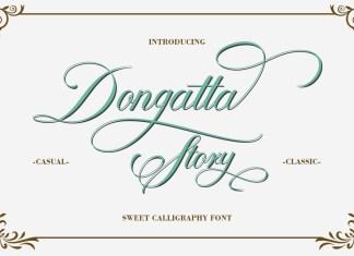 Dongatta Story Script Font