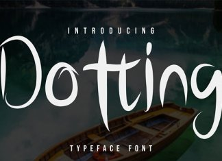 Dotting Script Font