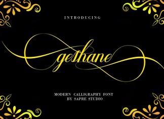 geshaneScript Font