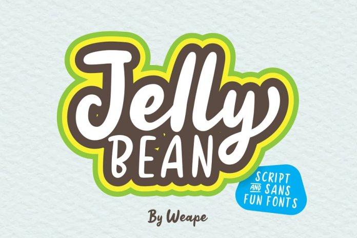 Jellly Bean Script & Sans Fun Font