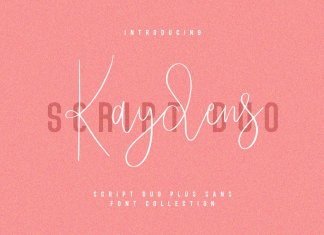 Kaydens Script Font Collection