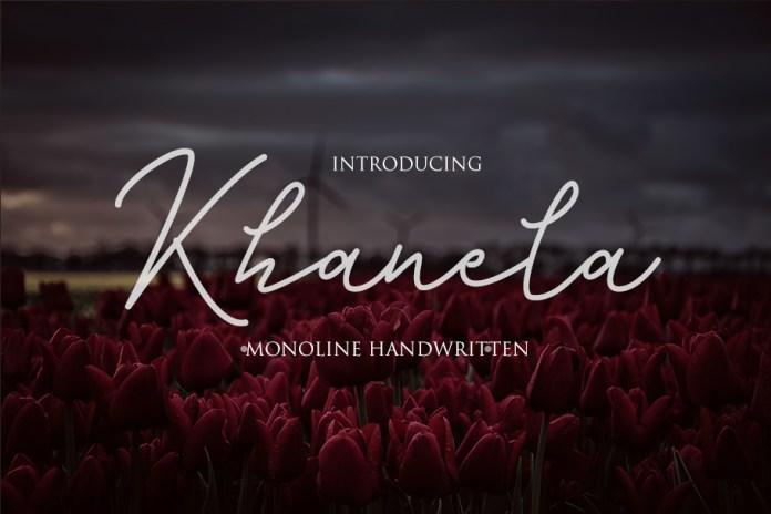 khanela Script Font