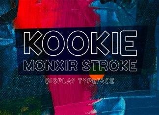 Kookie Monxir Stroke Typeface