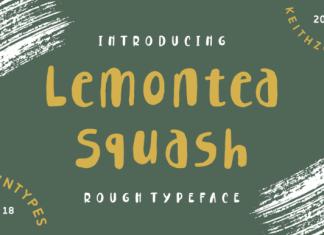 Lemontea Squash Font
