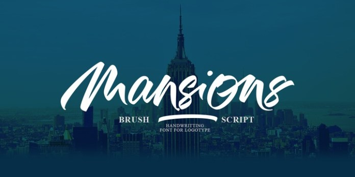 Mansions Brush Script Font