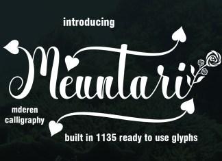 MeuntariScript Font