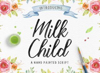 Milk Child Script Font