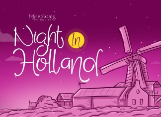 Night in Holland Other Font