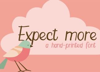 PN Expect MoreRegular Font