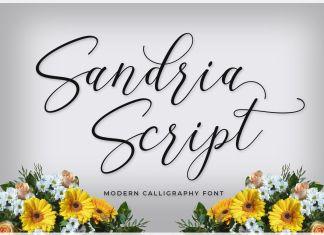 Sandria Script Font