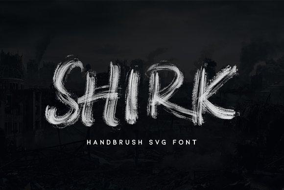 Shirk - Handbrush SVG