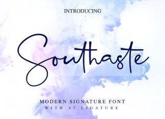 Southaste - a Signature Font