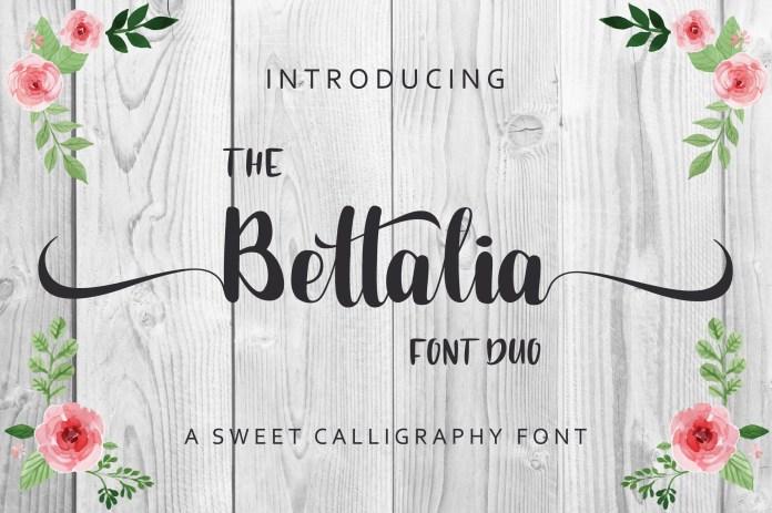 The Bettalia Font Duo
