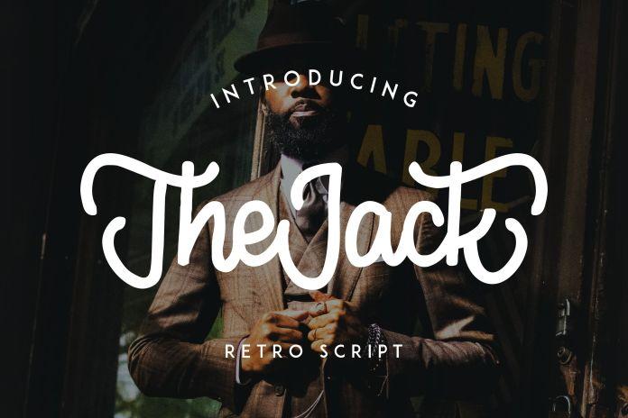 TheJack | Elegant Retro ScriptScript Font