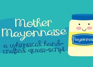 ZP Mother MayonnaiseScript Font