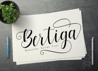 Bertiga Script Font
