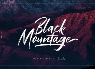 Black Mountage - Brush Font
