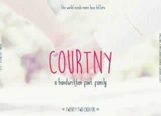 Courtny - a handwritten sans serif