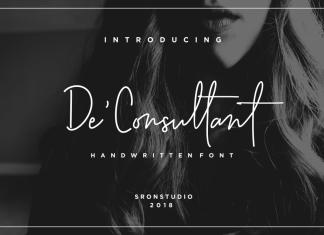 De'Consultant Handwritten FontScript Font