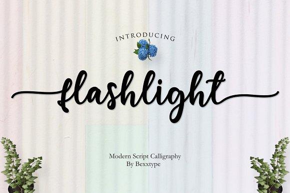 Flashlight Script Font