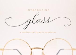 Glass Script Font