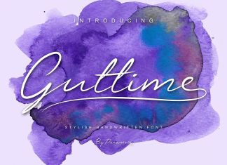 Guttime Script Font