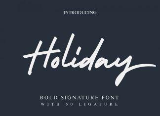 Holiday - Bold Signature FontScript Font