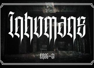 Inhumans Font
