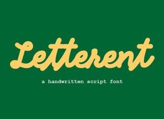 Letterent Script Font