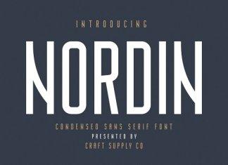 Nordin - Condensed Sans Serif Font