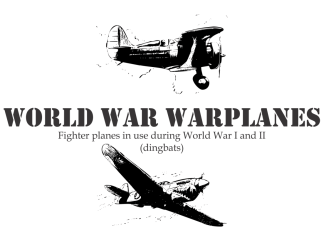 World War Warplanes Other Font