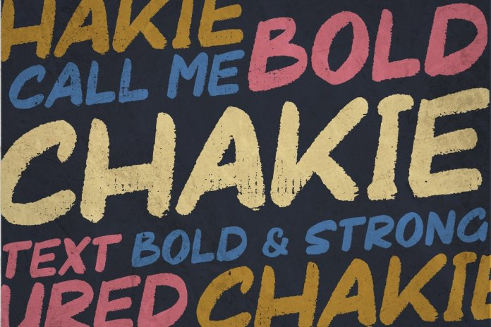 CHAKIE - Retro Brush Font