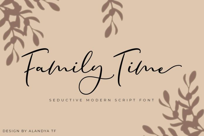 Family Time script Font