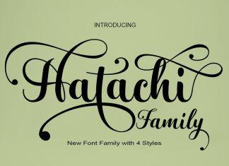 Hatachi Family Script Font