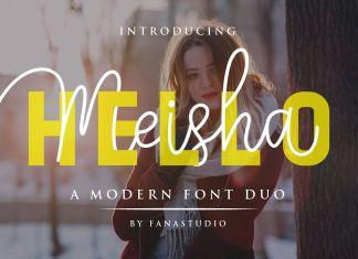 Hello Meisha a Modern Font DuoScript Font