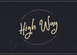 High Way font
