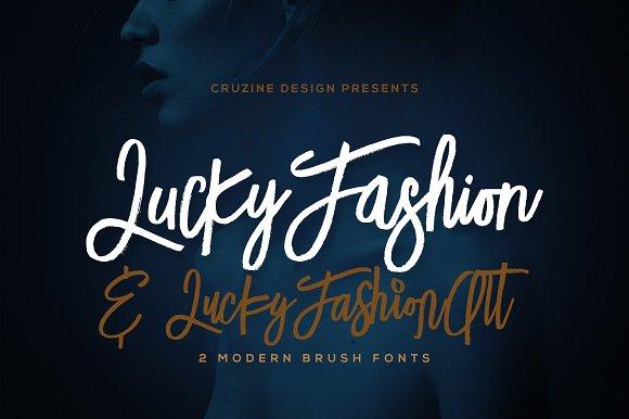 Lucky Fashion Brush Font