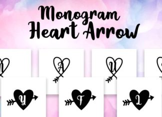 Monogram Heart Arrow Font