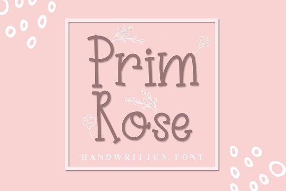 Prim Rose - Lovely Handwritten+EXTRA