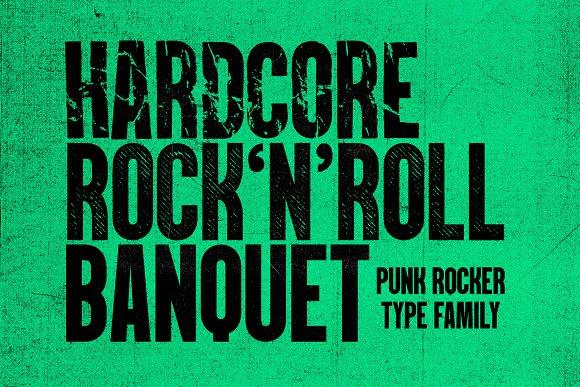 PunkRocker Font Trio