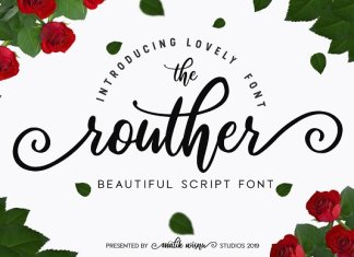 routher - beautiful script font