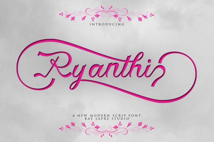 Ryanthi Script Font