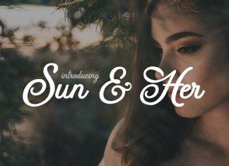 Sun & Her Font