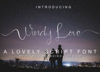 Windy Love Font